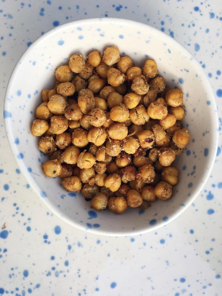 Golden roasted chickpeas