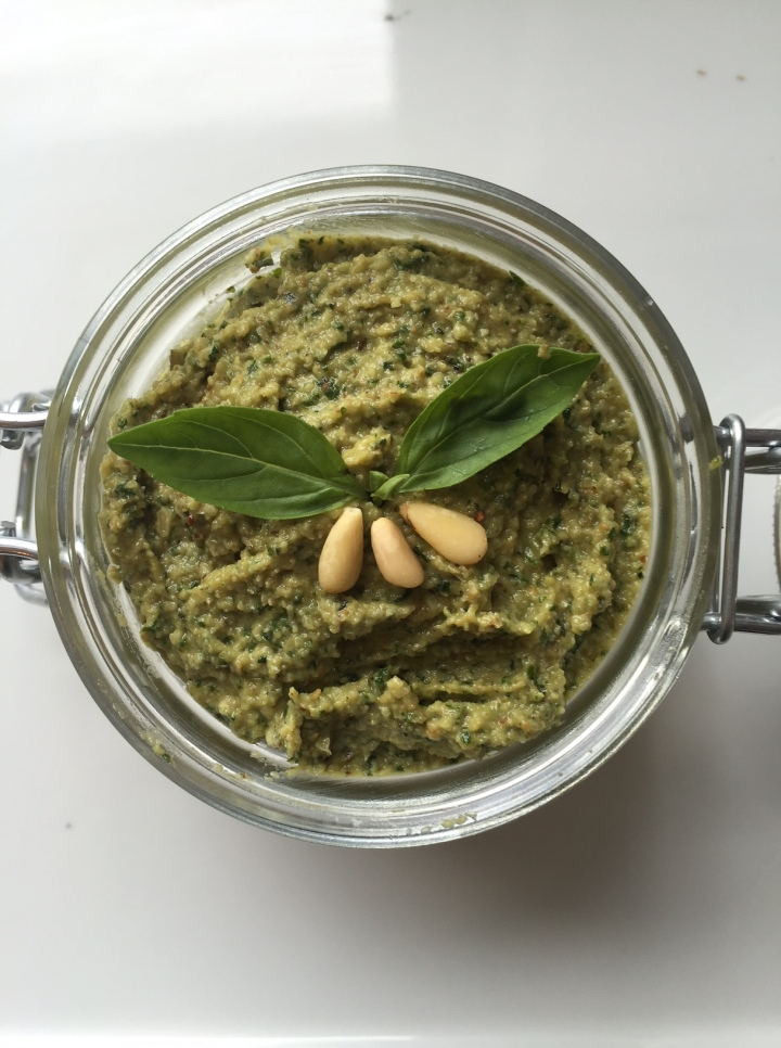 Roasted garlic, dairy free pesto