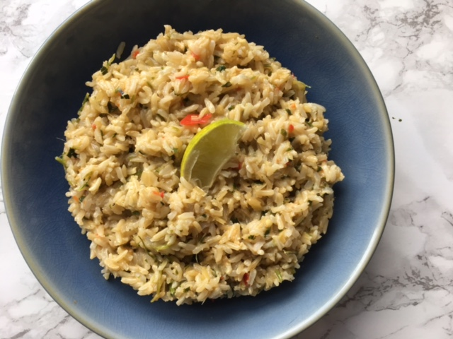 Thai style coconut brown rice