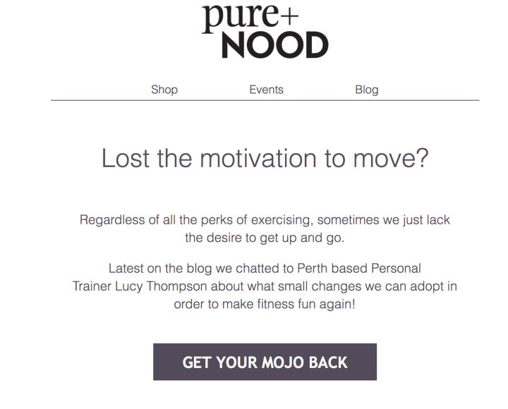 Pure & Nood Article : A few tips to help get your mojo back!